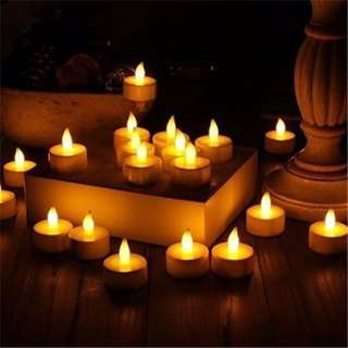 LED Battery Operated Flameless Tealight Candles, 24pc Bulk Pack