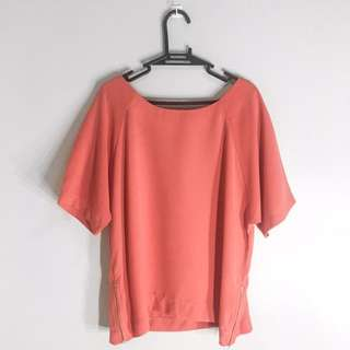 ForMe Salmon Textured Top
