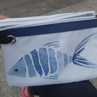 Fish Print Pouch