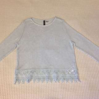 Baby Blue Knitted Sweater
