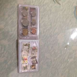 Singapore and Malaysia Coins And Stamps