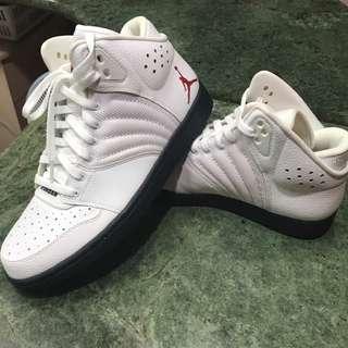 【保證真品】美國購入全新男生Jordan 高筒白色運動鞋