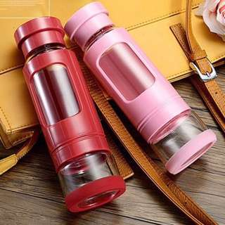 Pink Glass Water bottle