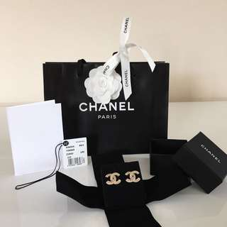 Authentic Chanel Pierced Earrings