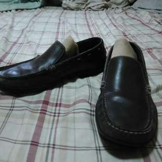Authentic Rockport Dark Brown Leather Loafers/ Driving Shoes