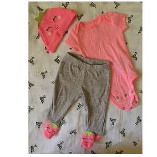 Carter's 3pc Set Baby Clothes