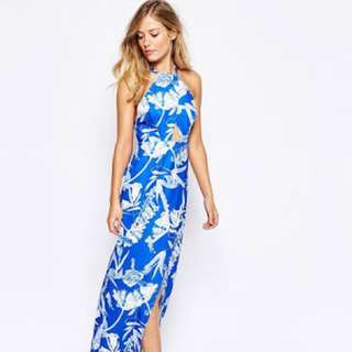Stylestalker Blue Jasmine Maxi Dress XS