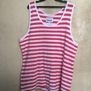 White & Pink Striped Sando