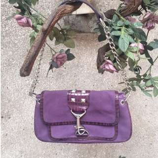 Suede Purple Clutch