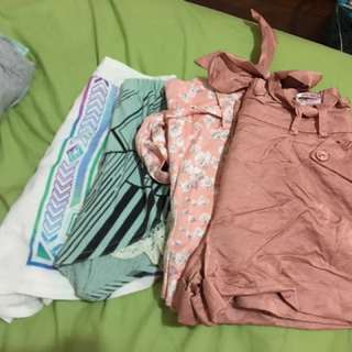 Assorted Material Shorts