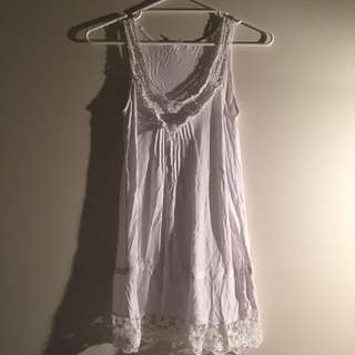 6 White Cotton Dress