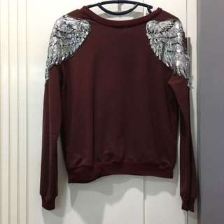 Winged Maroon Sweater