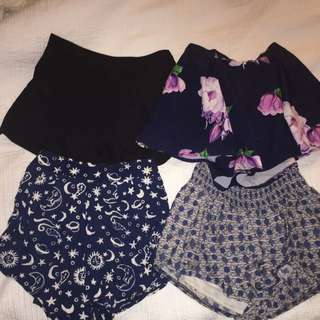Party/Going Out Shorts Sizes 6-8