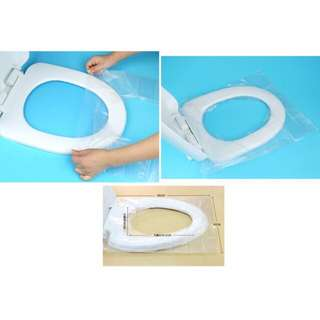 Anti-Bacterial Disposable Toilet Seat Cover 5 packs with 30 sheets