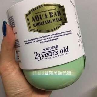 韓國23years old 嬰兒肌水分熱能凝膠面膜