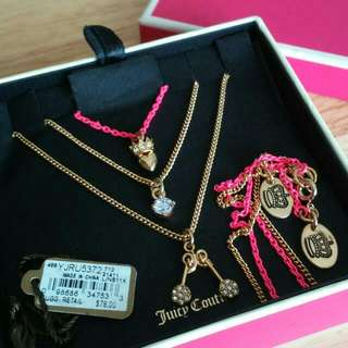 Authentic Juicy Couture Teeny Wish Necklace Set (New)
