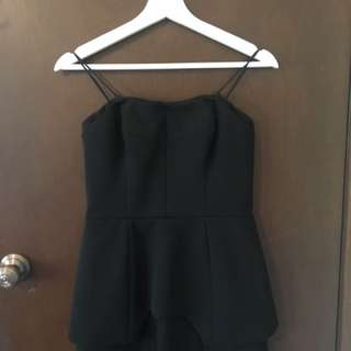 Black Ministry Of Style Strapless Romper