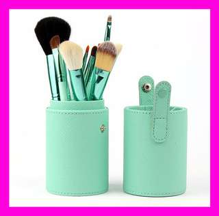 Makeup Brush Set 12Pcs Kit Leather Cup Holder Case