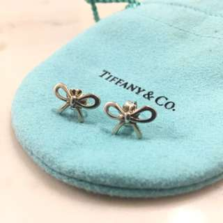 Tiffany and Co. Silver Bow Earrings