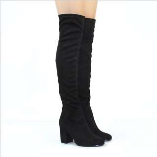 Knee High Black Boots 9