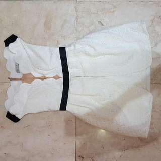 Three Floor White Mini Dress (GENUINE)