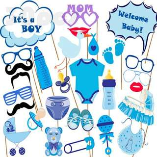 It's A Boy Baby Shower Photobooth Props