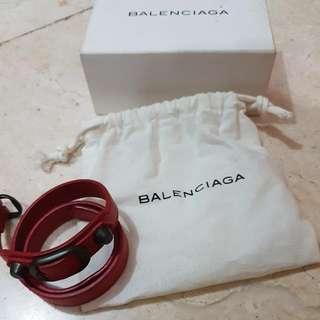 Balenciaga Agneau Triple Tour In Red Bracelet (GENUINE)