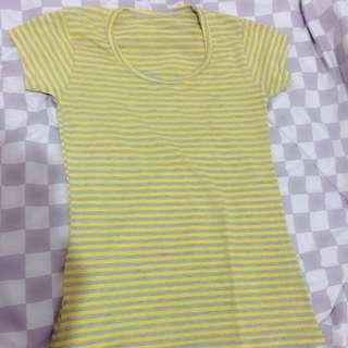 T-shirt Stripe Yellow