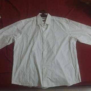 XXL Size Formal Plain White Shirt