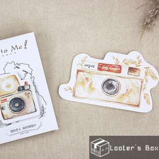 Vintage Watercolor Style Polaroid Camera Gift Post Card Bookmark (DAH273)