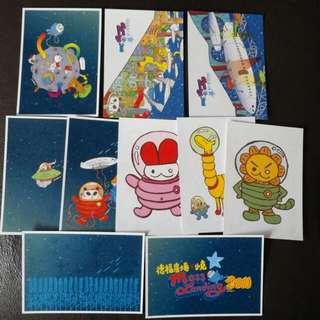 2011年 MTR Mall 小克 聾貓 明信片 Post Card 10張 送瑞士糖 組合揮春