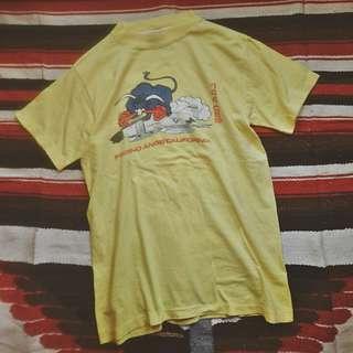 古著 復古 Vintage Military T-Shirt  美式古着 早期軍事風滾筒短tee T恤 Made in U.S.A