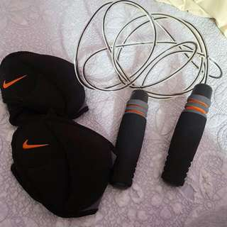 Nike Jumping Rope And Ankle Weights