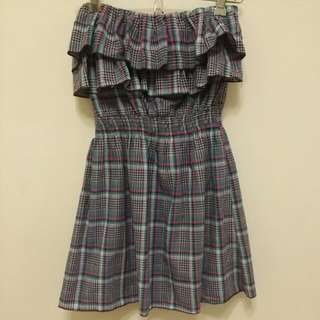 Smocked Ruffle Tube Top / Dress (Pre-loved)
