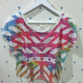 tribal croptop by forever21