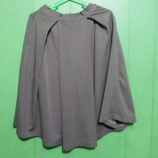 Taupe Midi Skirt