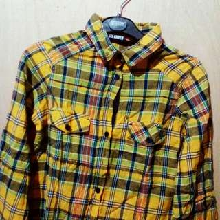 Lee Cooper Plaid Polo
