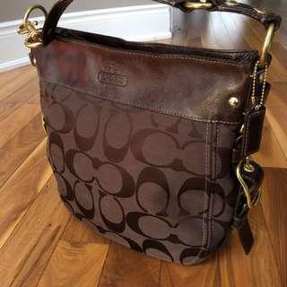 Coach Monogram Shoulder Bag