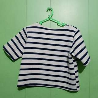 Stripe Cropped Top