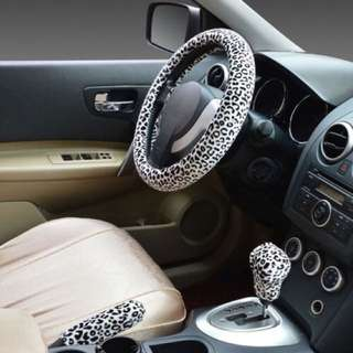 CLASSIC MODELS FEMALE LEOPARD STEERING WHEEL COVER