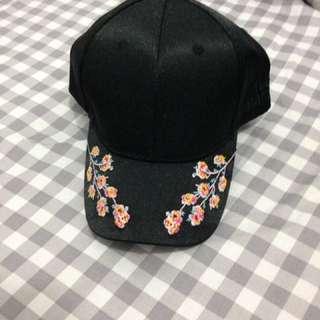 刺繡花 帽