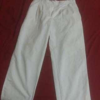 Men's White Pants (bulan Sabit Merah)