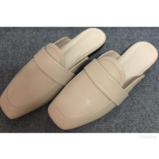 裸色拖鞋24號