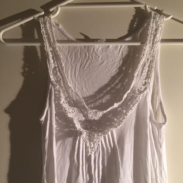 6 White Cotton Dress