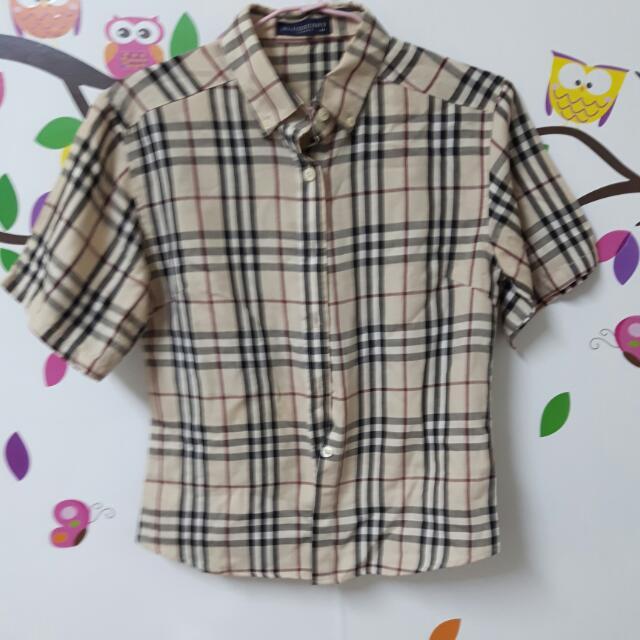 二手)香港製格子襯衫