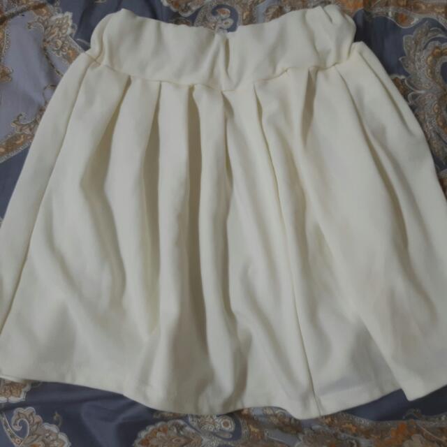 二手)米白短裙