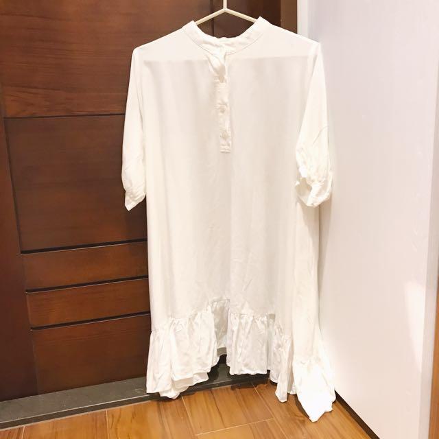 飄飄的白襯衫洋裝