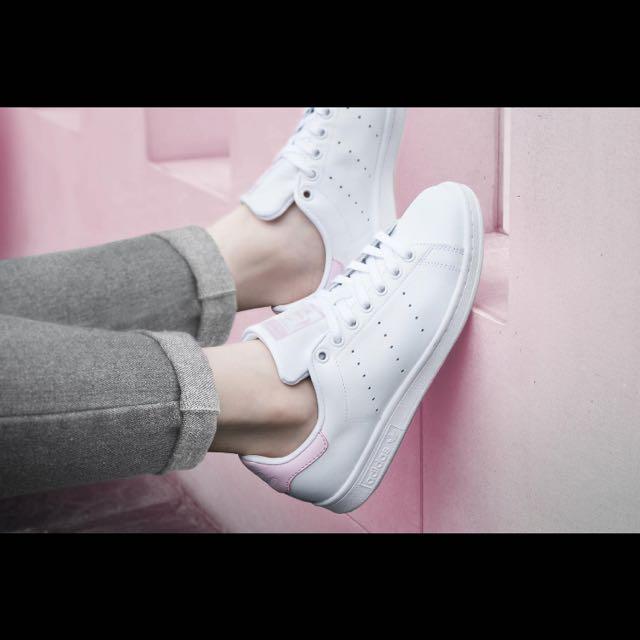 Adidas Stan Smith 粉紅色小白鞋