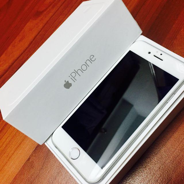 Apple IPhone 6 64G 白 二手美品耳機全新