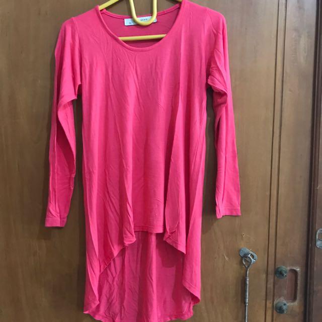 Atasan Zara Basic pink